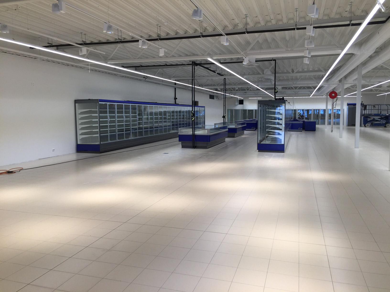 Tekniske installasjoner og butikkinteriør